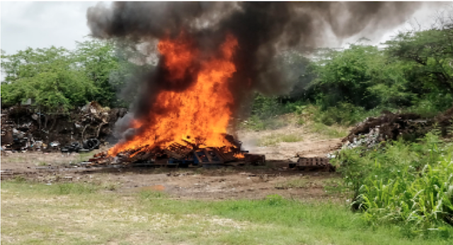 Antiguan Police Burn Over $1.5 Million In Seized Cannabis