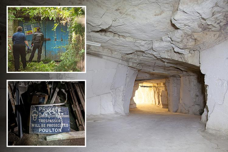 Huge Grow In Old Quarry  Busted By Police Near Bradford-on-Avon, Wiltshire UK