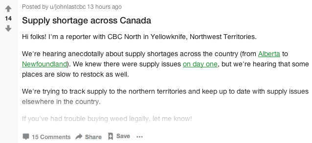 This is the Sub Reddit Canadians Are Reviewing Their Weed On