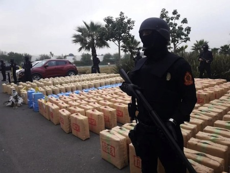 Morocco's National Brigade of Judicial Police Seize 10 Tons Of Hashish