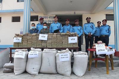 Nepal, Makawanpur district, 2 arrested with 273 kilos of hash