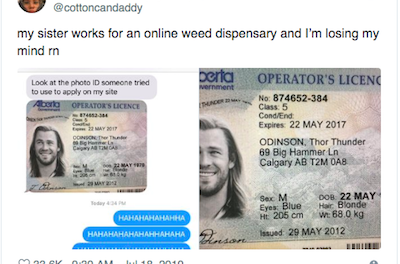 Thor Gets Fake ID To Access Weed In Canada