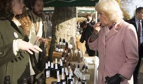 "Camilla Duchess of CBD ! Tries Sample At London Market Declares it ""Delicious"""