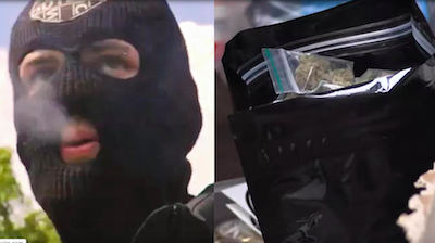 UK: Masked Music Producer Hands Out Free Weed + Toilet Paper During Pandemic