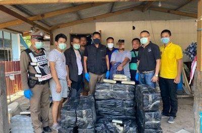 Over 220kg of marijuana seized in Bangkok following sting operation