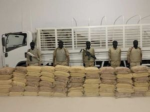 Saudis bust attempt to smuggle 1.6 tonnes of drugs from Yemen Based Al Houthis