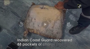 Indian Coast Guard recovers 88 packets of Hash in Gujarat