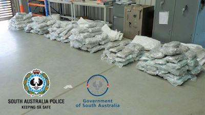 South Australia: Drugs worth $1.5 million seized in SA after police bust truck driver's alleged 'essential worker' transport plan