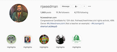 """Veteran Marijuana Activist Ed Forchion aka NJWeedman Launches """"Get on the CannaBus,"""" A New Instagram Live Series to Highlight His Ongoing Acts of Civil Disobedience and Protest in New Jersey"""