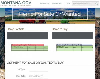 Montana Launches Online Hemp Marketplace To Connect Buyers And Sellers