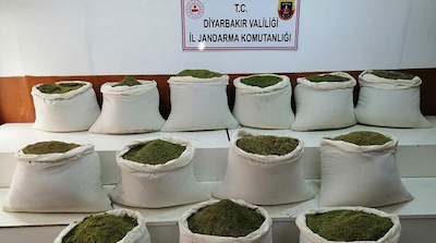 Over 1 ton of marijuana seized in southeastern Turkey