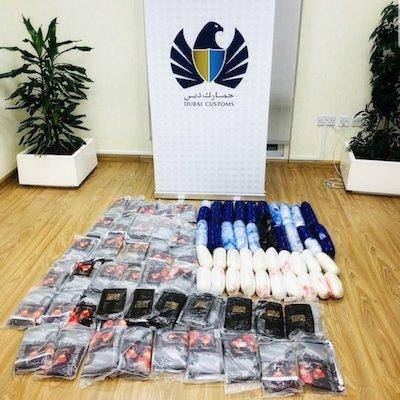 Dubai Customs seizes 76 kg of meth and hashish at Hamriya Port