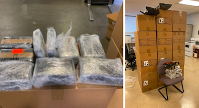 THP trooper locates 383 pounds of marijuana in semi-tractor during traffic stop