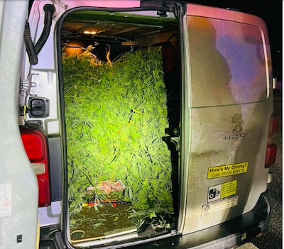 UK Police seize van stuffed full of Weed & Tweet – Do We Have A Big Enough Evidence Bag For That !