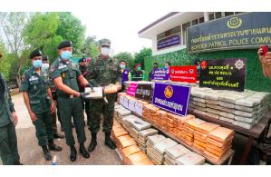 Thai Police seize 920 kilograms of cannabis smuggled across the Mekong River