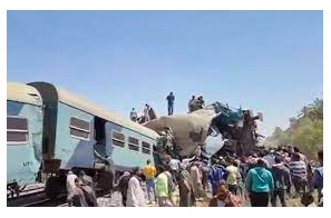 Egypt prosecutors find gross negligence behind train crash authorities allege tower guard had smoked hashish