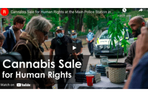 Activism: Cannabis Sale for Human Rights at the Main Police Station in Oslo